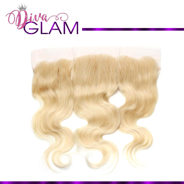 Diva Glam Blonde 613 Body Wave Frontal