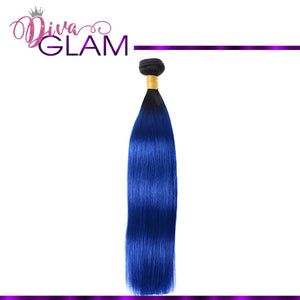 Diva Glam 1B/Blue Ombre Straight