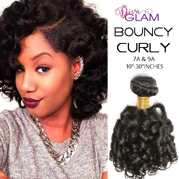 Diva Glam Bouncy Curly Virgin Hair Extensions