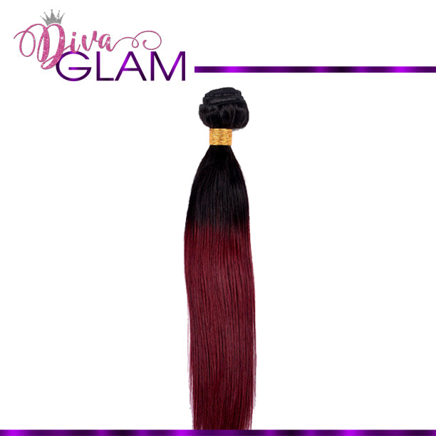 1B/Burgundy Silky Straight