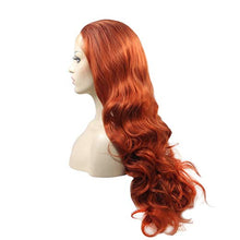 "Load image into Gallery viewer, 24"" Auburn Lace Front Wavy Mix Blend Wig"