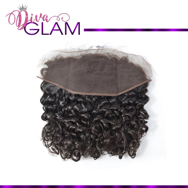Diva Glam Raw Indian Curly Frontal