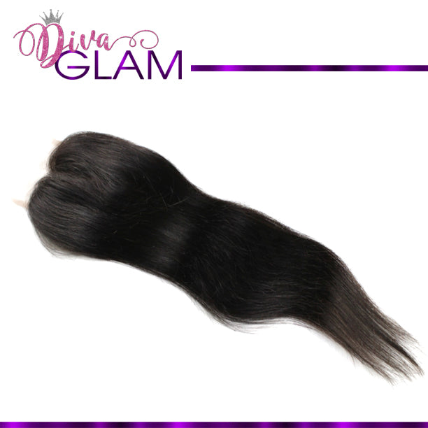Diva Glam Raw Indian Straight Closure