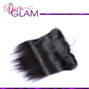 Diva Glam Raw Indian Silky Straight Frontal