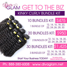 Load image into Gallery viewer, Kinky Curly Business Bundle Kit