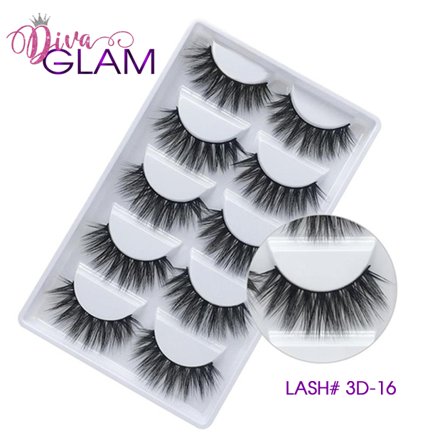 3D Mink Natural Lashes: 5 Pairs 3D-16