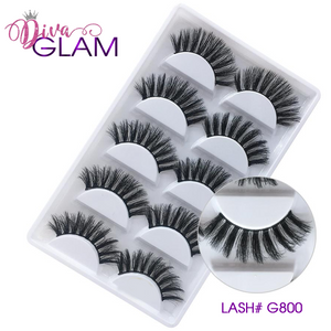 3D Mink Natural Lashes: 5 Pairs G800
