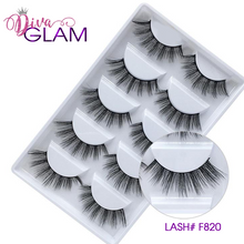 Load image into Gallery viewer, 3D Mink Natural Lashes: 5 Pairs F820