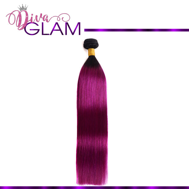 Diva Glam 1B/Purple Ombre Straight