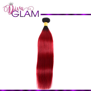 Diva Glam 1B/Red Ombre Straight
