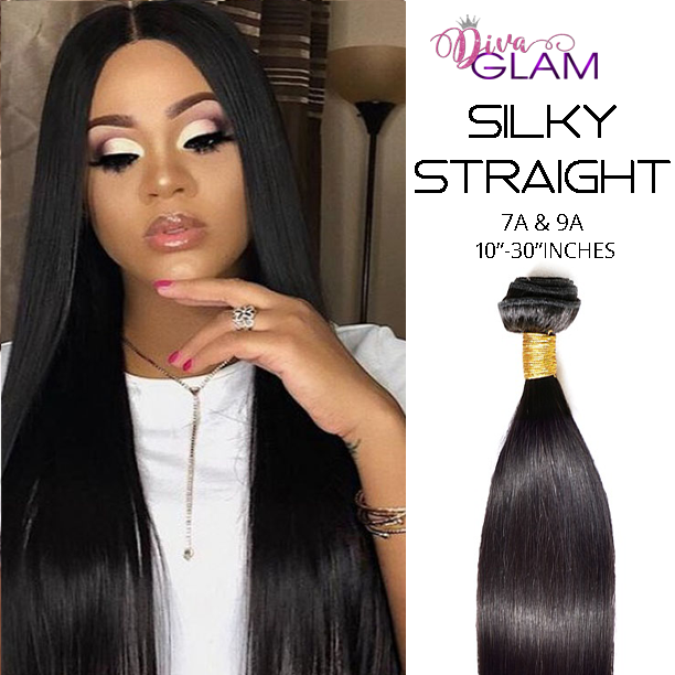 Diva Glam Silky Straight Virgin Hair Extensions