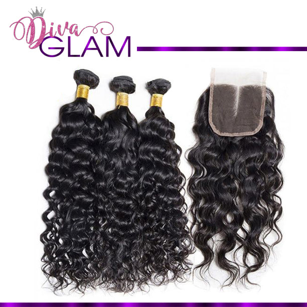 Diva Glam Water Wave Bundle Deal w/Closure