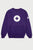 White Logo Crewneck - Purple