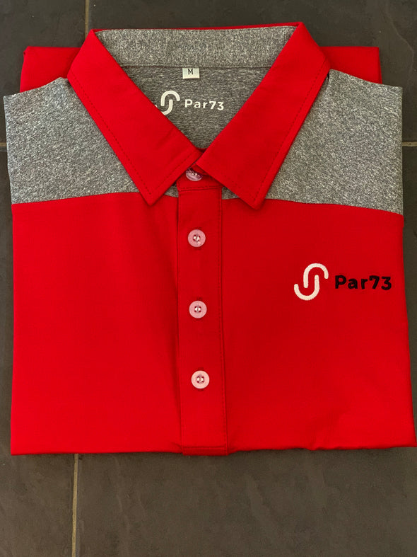 'First Cut' Red and Grey polo