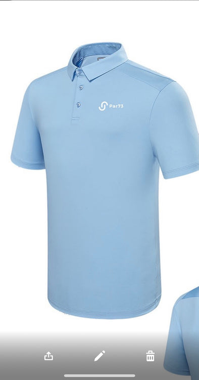 Pale Blue Par73 Tracer Polo