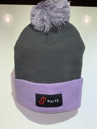 Par73 Apparel Winter Beanie - Lilac and Grey