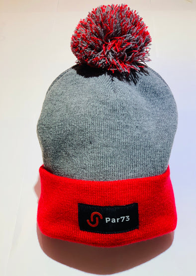 Par73 Apparel Winter Beanie - Red & Grey