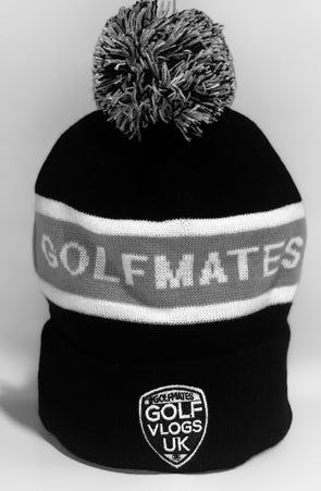 #Golfmates Winter Beanie - Black/Grey/White