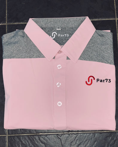 'First Cut' Pink and Grey polo