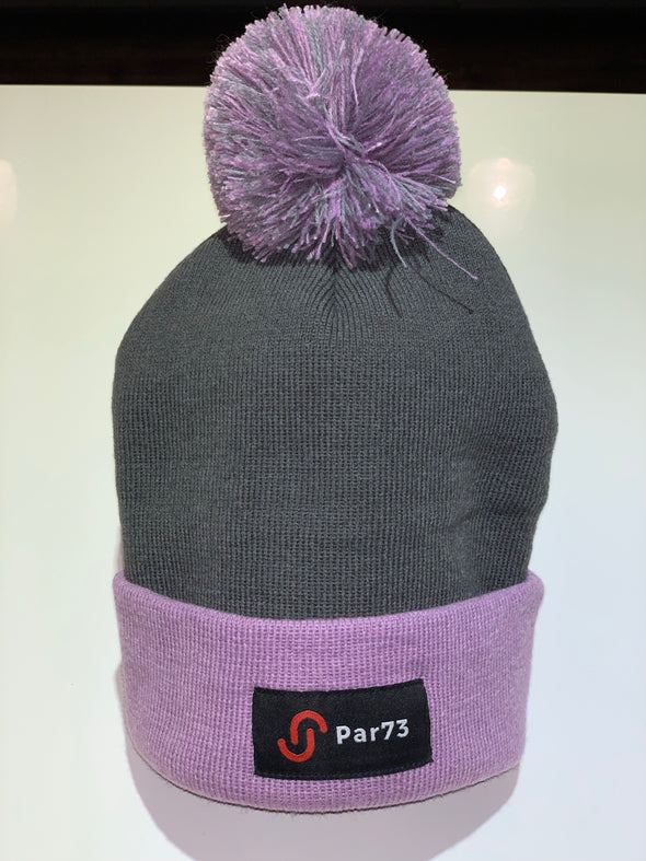 Par73 Apparel Winter Beanie - Smoky Pink and Grey