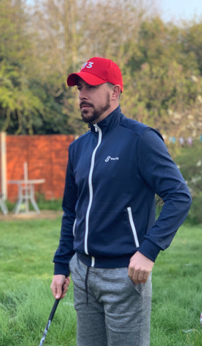 Par73 Apparel Navy Blue Trap Jacket