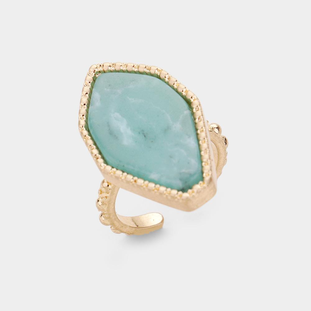 Ocean's Tide Adjustable Cuff Ring - Boutique 1780