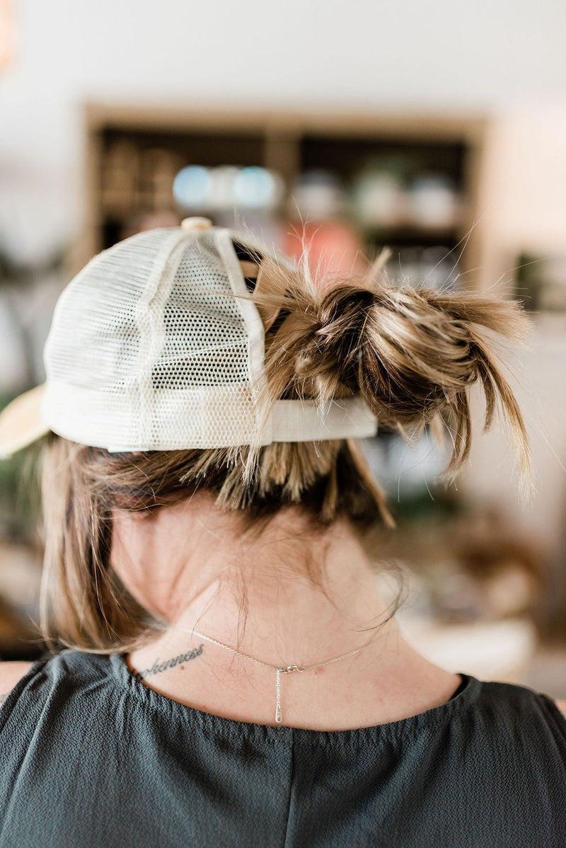 Crisscross Pony Tail Hat - Boutique 1780