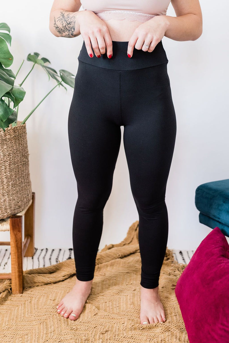 Yoga Waistband Comfort Leggings - Boutique 1780
