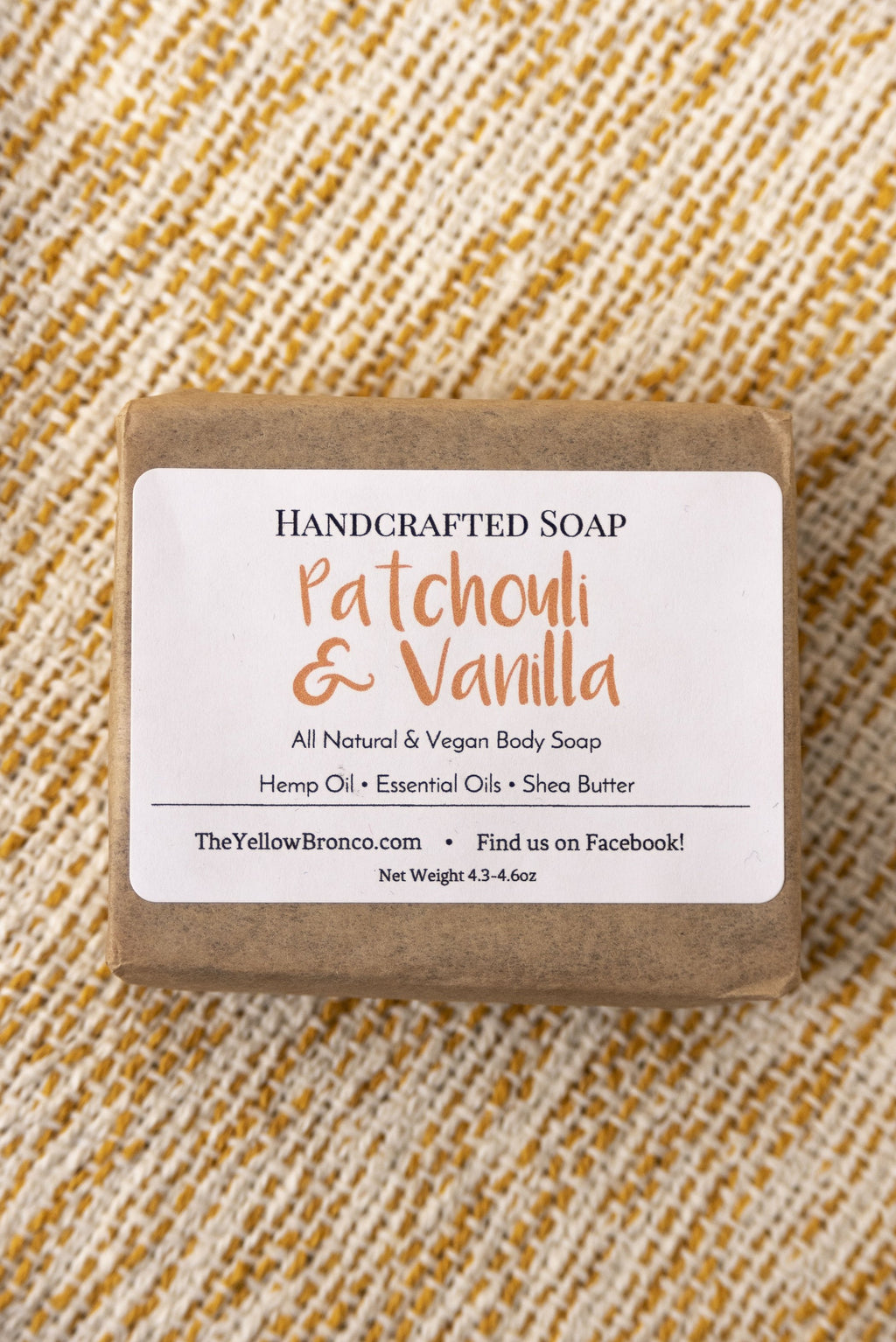 Handcrafted Patchouli & Vanilla Soap - Boutique 1780