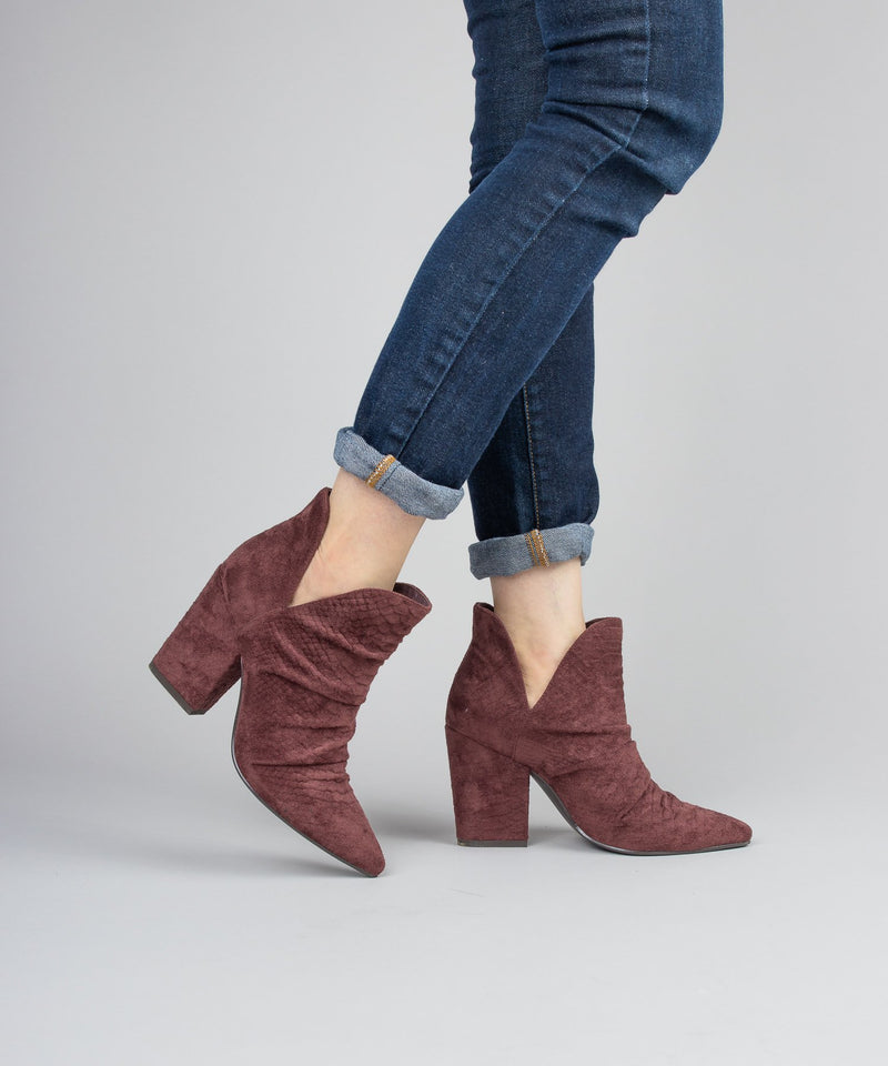 Distressed Snakeskin Bootie - Boutique 1780