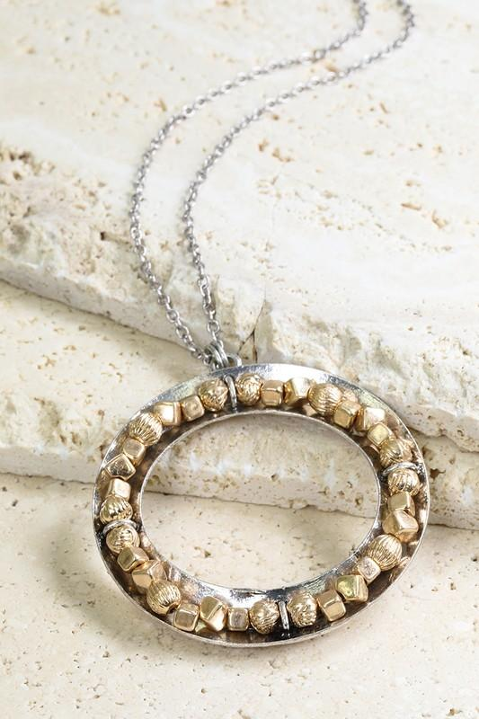 Faceted Nugget Bead Necklace - Boutique 1780