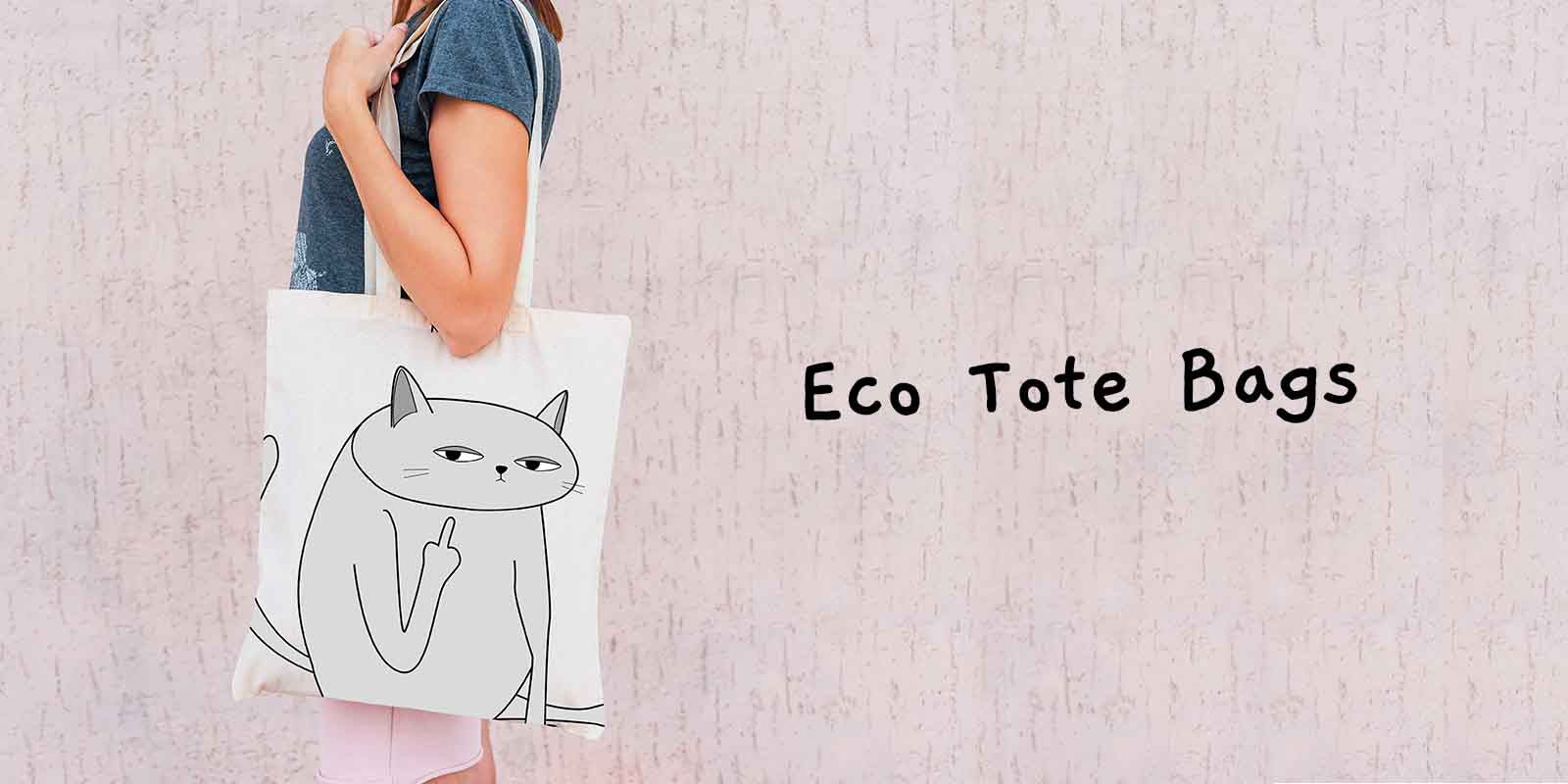 Funny Ken the Cat Eco Tote Shopping Bags