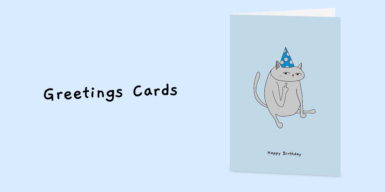 Ken the Cat Funny Cat Greetings Cards