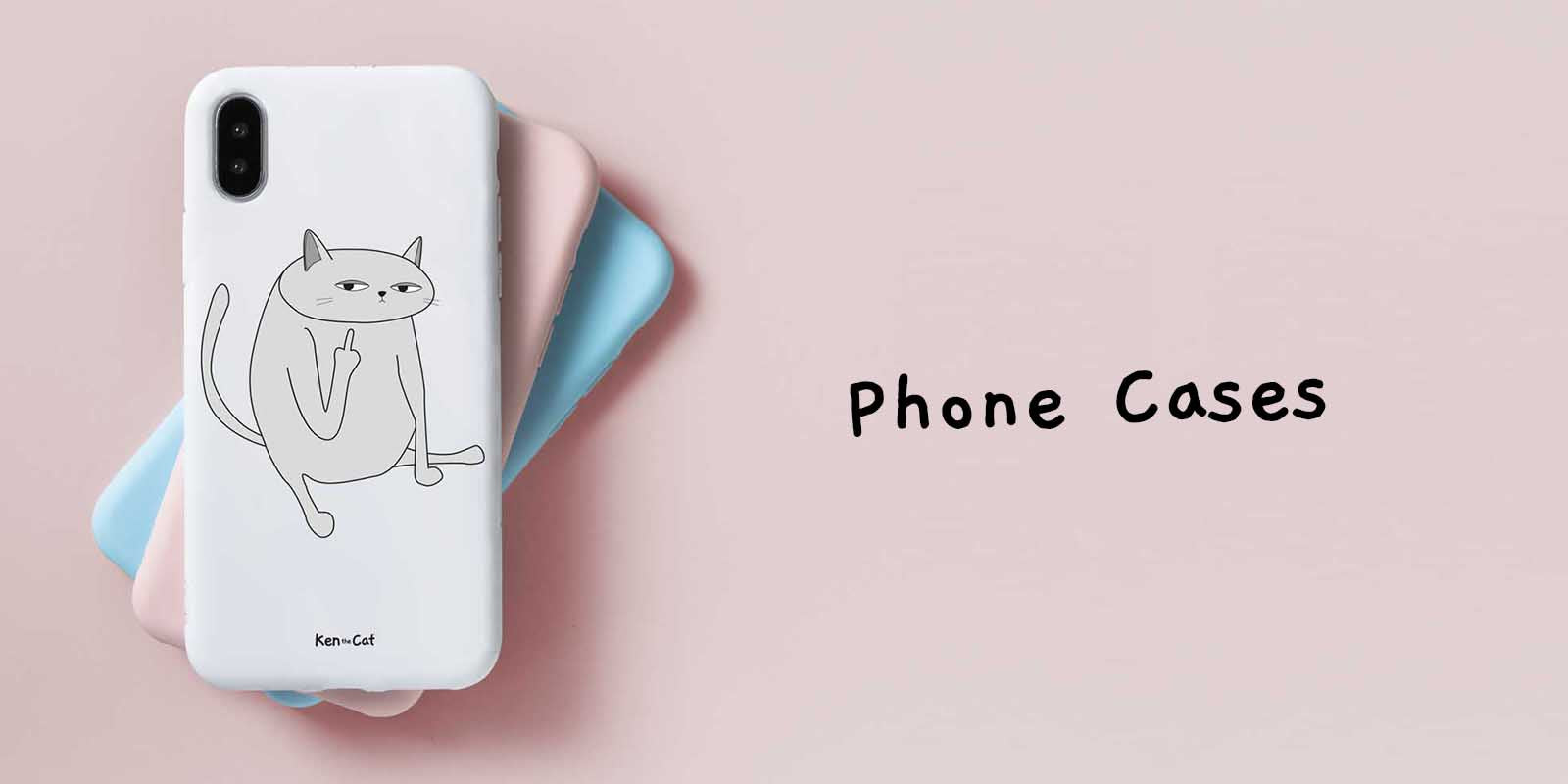 Ken the Cat Funny Phone Cases for cat lovers