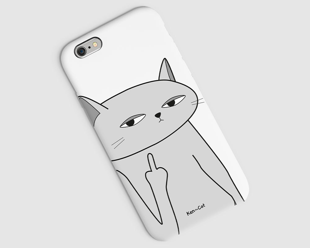 Flipping the Finger Phone Case / White