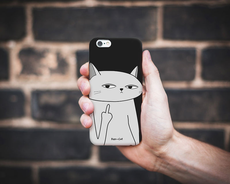 Flipping the Finger Phone Case / Black