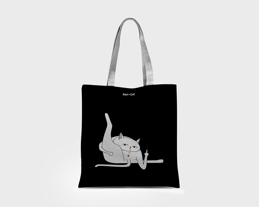 Bum Lick Eco Tote Bag / Black