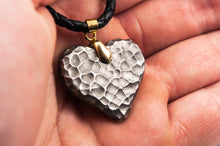 Load image into Gallery viewer, Titanium Moon Heart ( antique ) Necklace