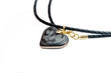 Load image into Gallery viewer, Heart pendant , carbon fiber pendant, carbon fiber necklace , heart pendant , carbon fiber heart