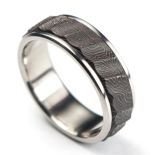 Topography carbon fiber ring