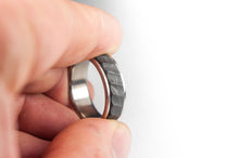 Load image into Gallery viewer, Titanium and Forged Carbon Fiber Ring