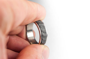 Titanium and Forged Carbon Fiber Ring