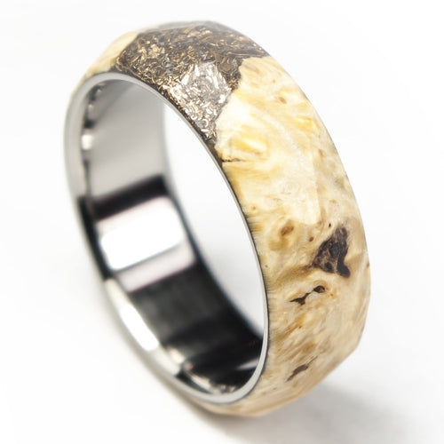 Maple burl ring