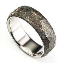 Load image into Gallery viewer, Forged carbon fiber ring with titanium