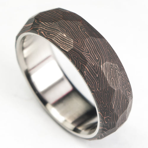 Space coral carbon fiber ring fatcarbon