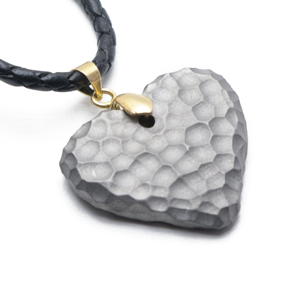 Titanium Moon Heart Necklace
