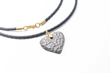 Load image into Gallery viewer, Titanium Moon Heart Necklace