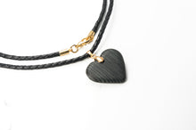 Load image into Gallery viewer, Glow Carbon Fiber Heart Necklace