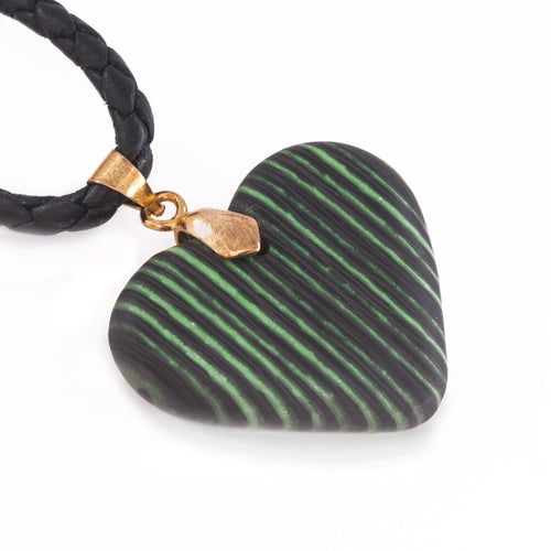 Glow Carbon Fiber Heart Necklace