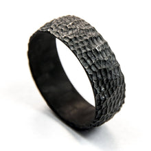 Load image into Gallery viewer, Carbon fiber ring, carved ring, carved carbon fiber